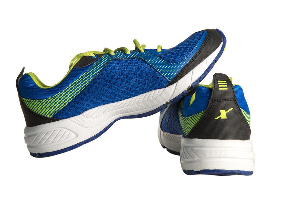 image of athletic sneakers gym essentials