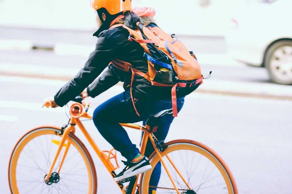 image of bike riding