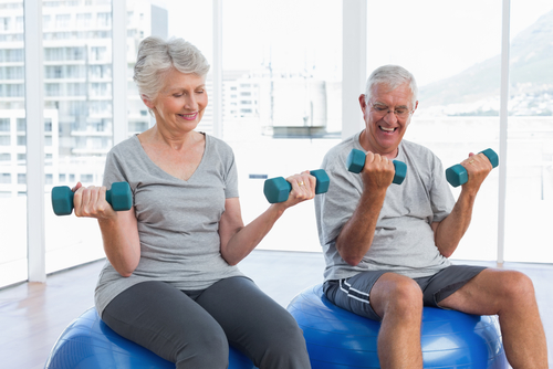 How can seniors improve muscle tone
